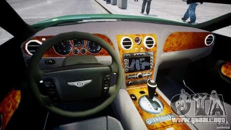 Bentley Continental GT para GTA 4 vista hacia atrás