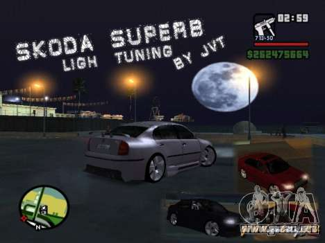 Skoda Superb Light Tuning para GTA San Andreas
