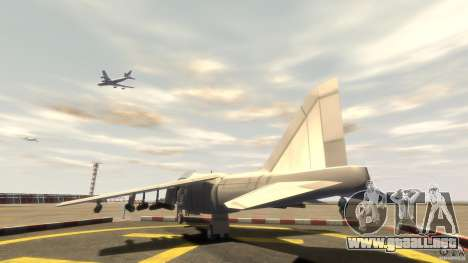 Liberty City Air Force Jet (con equipo) para GTA 4 Vista posterior izquierda