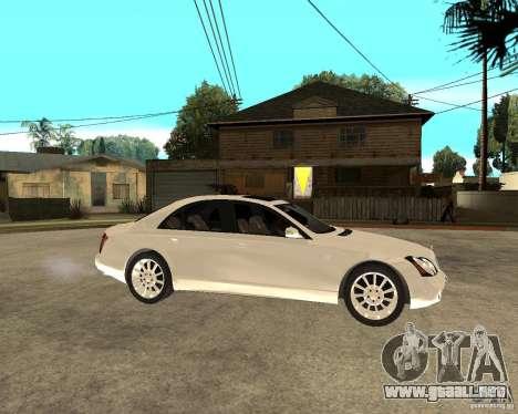 Maybach 57 S para la visión correcta GTA San Andreas