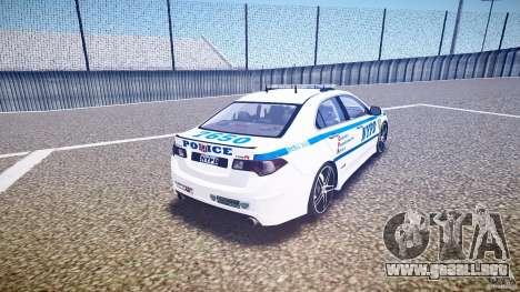 Honda Accord Type R NYPD (City Patrol 7605) ELS para GTA 4 vista lateral