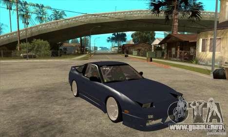 Nissan 180SX Turbo JDM para GTA San Andreas vista hacia atrás