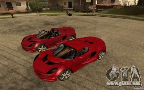 Lotus Elise from NFSMW para la visión correcta GTA San Andreas