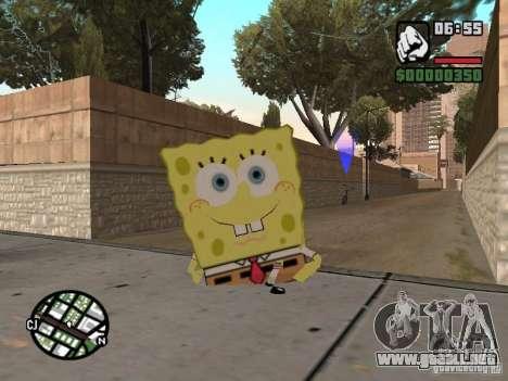 Sponge Bob para GTA San Andreas quinta pantalla