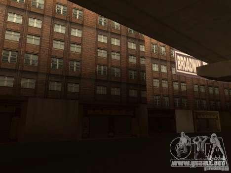 Nuevo centro de texturas Los Santos para GTA San Andreas sucesivamente de pantalla