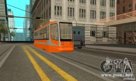 Tranvía 71-623 para GTA San Andreas vista posterior izquierda