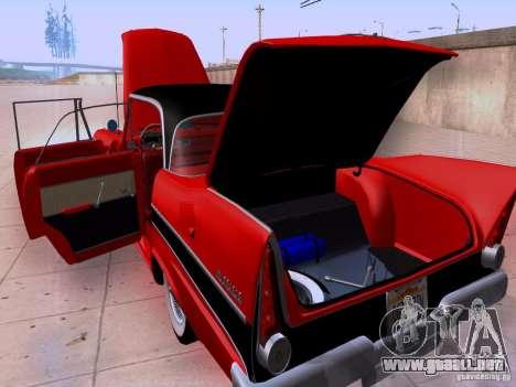 Plymouth Belvedere Sport Sedan 1957 para visión interna GTA San Andreas