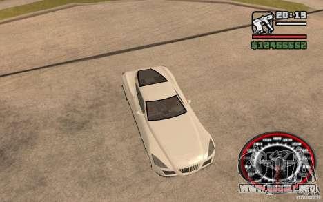 Maybach Exelero para GTA San Andreas vista hacia atrás