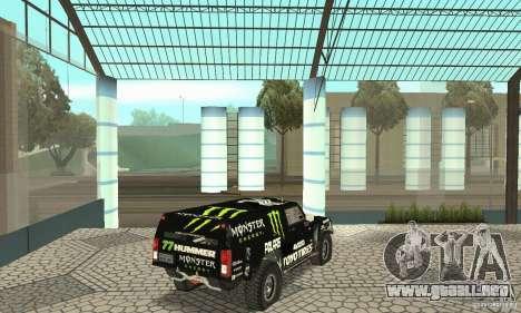 Hummer H3 Baja Rally Truck para GTA San Andreas left