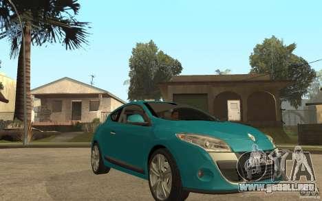 Renault Megane 3 Coupe para GTA San Andreas vista hacia atrás