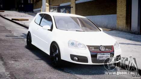 Volkswagen Golf 5 GTI para GTA 4 vista hacia atrás