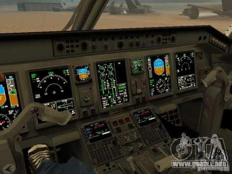 Embraer ERJ 190 Air Canada para visión interna GTA San Andreas