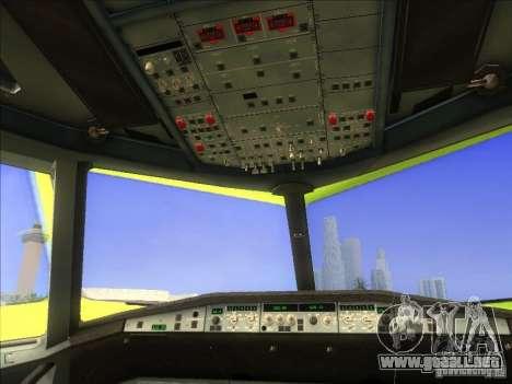 Airbus A-320 S7Airlines para GTA San Andreas vista hacia atrás