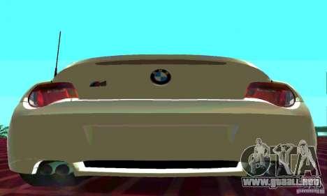 BMW Z4 E85 M para GTA San Andreas left