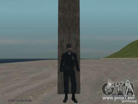 Sargento PPP para GTA San Andreas novena de pantalla