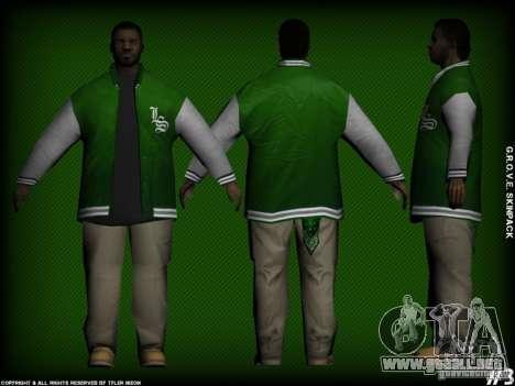 G.R.O.V.E. Skinpack para GTA San Andreas