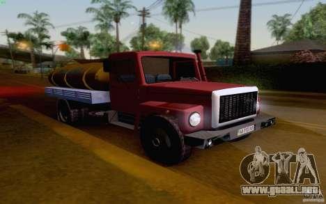 GAZ 3309 petrolero de la leche para GTA San Andreas left