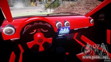 Volkswagen Golf II W8 para GTA 4 vista hacia atrás