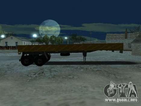 Trailer de Kamaz 5410 para visión interna GTA San Andreas