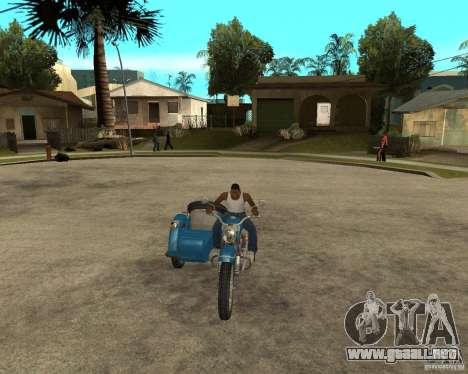 Sidecar Ural de turista para GTA San Andreas vista hacia atrás