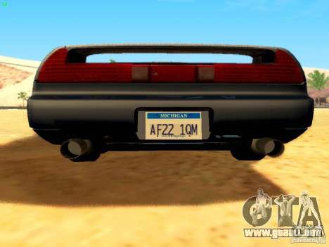 Honda NSX Custom para vista inferior GTA San Andreas