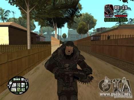 Marcus Fenix de Gears of War 2 para GTA San Andreas quinta pantalla