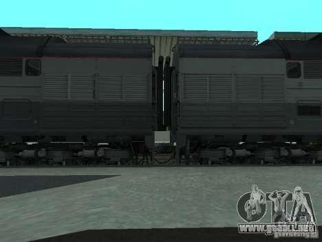 2te116 RZD para GTA San Andreas vista posterior izquierda