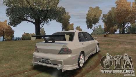 Mitsubishi Lancer Evolution VIII para GTA 4 left