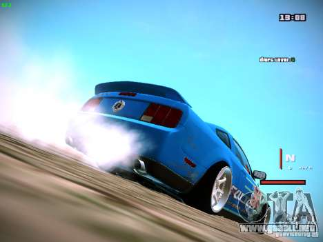 Ford Shelby GT500 Falken Tire Justin Pawlak 2012 para GTA San Andreas left