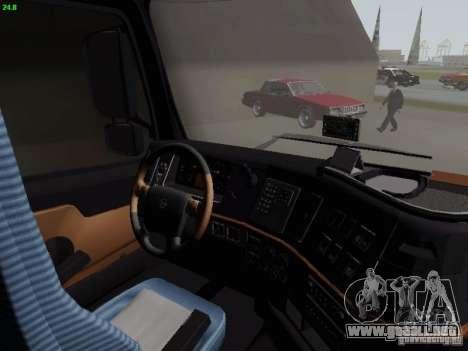 Volvo FH13 Globetrotter para visión interna GTA San Andreas