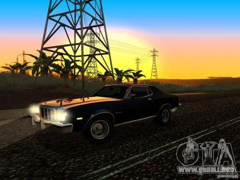 Ford Gran Torino 1975 para GTA San Andreas vista hacia atrás