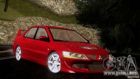 Mitsubishi Lancer Evolution IIIV para visión interna GTA San Andreas