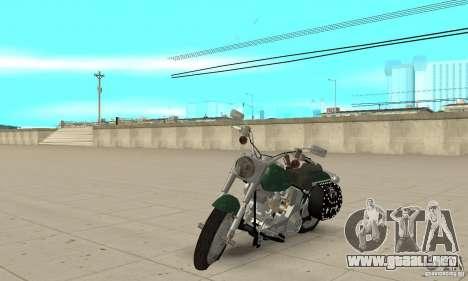 Harley Davidson FLSTF (Fat Boy) v2.0 Skin 1 para GTA San Andreas
