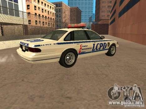 La policía de GTA4 para GTA San Andreas left