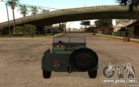 GAZ 67 b para GTA San Andreas vista posterior izquierda