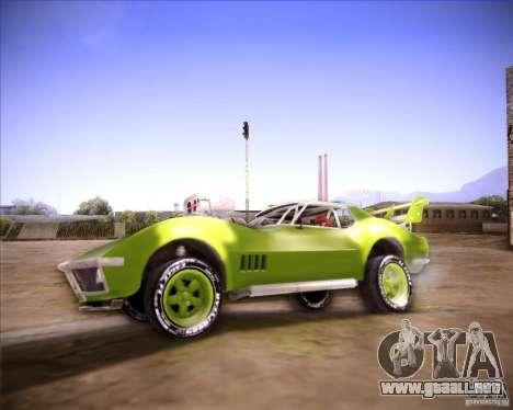 Chevrolet Corvette drag para GTA San Andreas left