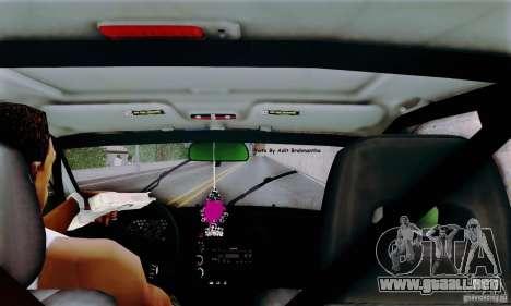 Honda Civic Si Sporty para GTA San Andreas vista hacia atrás