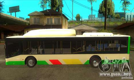 Mercedes Benz MAN Lions City CNG para GTA San Andreas left