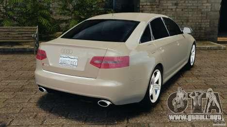 Audi RS6 2010 v1.1 para GTA 4 Vista posterior izquierda