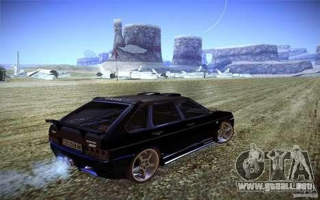 VAZ 2109 carbono para GTA San Andreas vista posterior izquierda