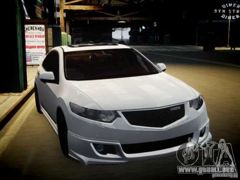 Honda Accord Mugen para GTA 4 vista hacia atrás