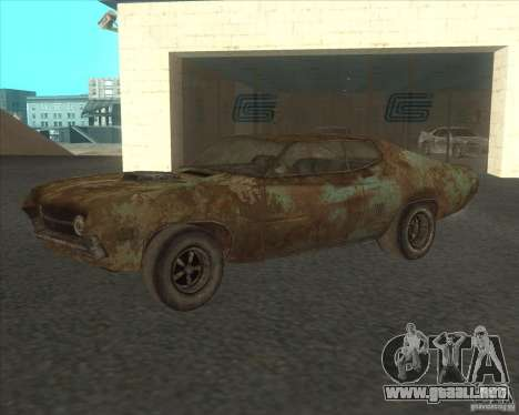 Ford Torino extreme rust 1970 para visión interna GTA San Andreas