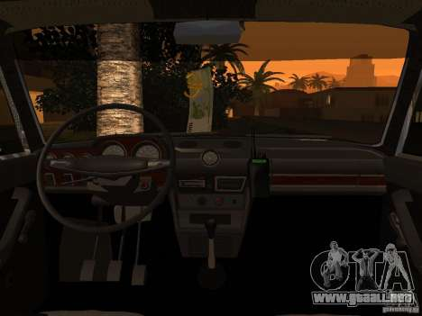 2106 VAZ policía v 2.0 para vista lateral GTA San Andreas
