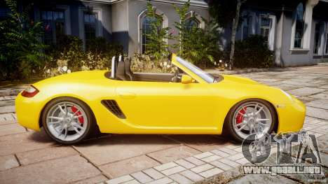 Porsche Boxster S para GTA 4 left