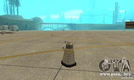 Dalek Doctor Who para GTA San Andreas vista posterior izquierda
