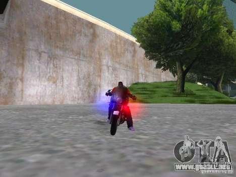 Harley Davidson Dyna Defender para visión interna GTA San Andreas