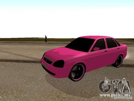 Lada Priora Emo para GTA San Andreas left