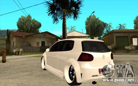 VW Golf 5 GTI Tuning para GTA San Andreas vista posterior izquierda