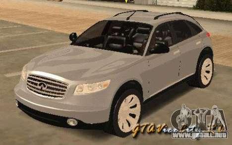 INFINITY FX45 para GTA San Andreas left