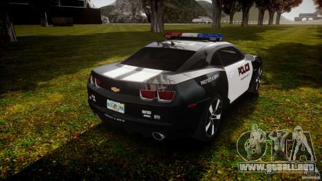 Chevrolet Camaro Police (Beta) para GTA 4 vista lateral